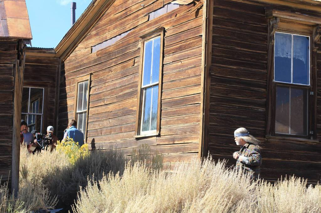 "On Locations at Bodie State Park, Filming ""Ghost Town"""