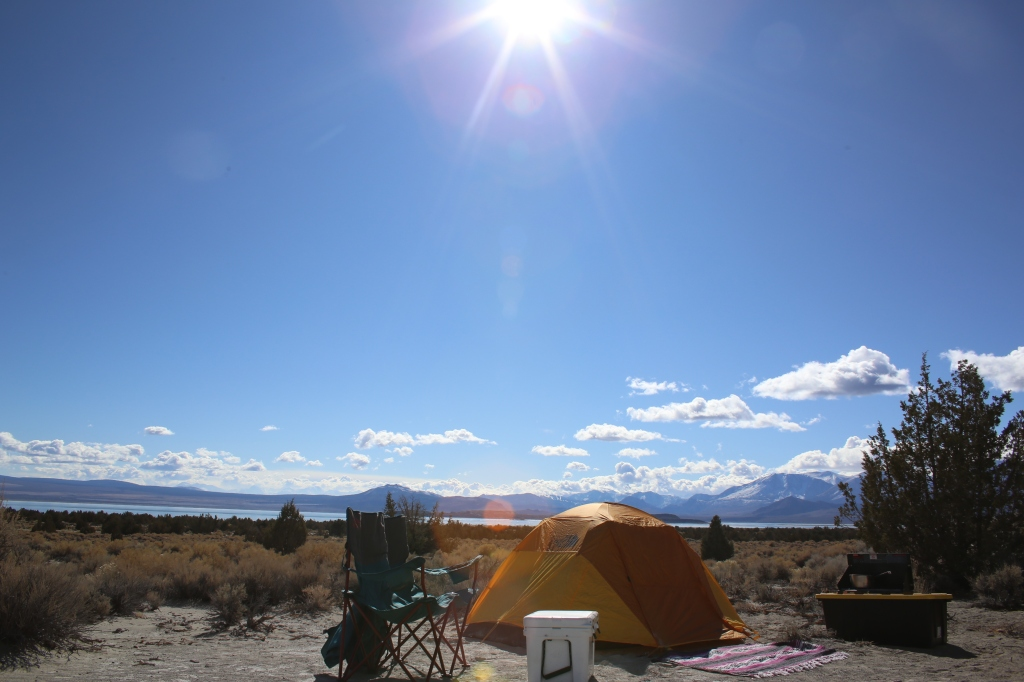 Camping near Mammoth Lakes, Yosemite National Park East Entrance, On Mono Lake, Only 10 Miles from Bodie State Park.